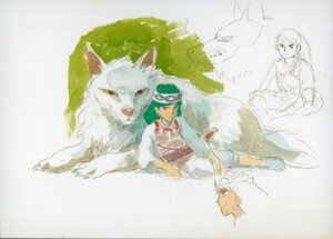 Rating: Safe Score: 3 Tags: mononoke_hime san sketch User: Radioactive