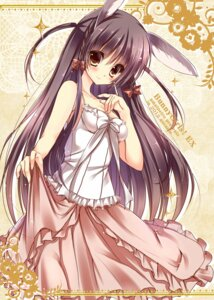 Rating: Safe Score: 36 Tags: amane_ruri animal_ears bunny_ears cleavage dress User: 椎名深夏