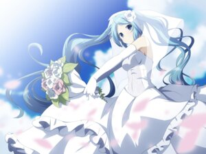 Rating: Safe Score: 41 Tags: dress hatsune_miku vocaloid wallpaper wedding_dress yukizuki_kei_(yossa) User: 椎名深夏