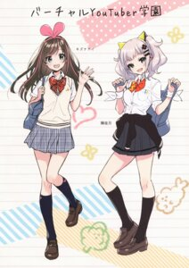Rating: Safe Score: 21 Tags: a.i._channel canvas_(morikura_en) crossover kaguya_luna kaguya_luna_(character) kizuna_ai morikura_en seifuku sweater User: Radioactive