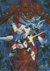 Rating: Safe Score: 7 Tags: gun gundam gundam_f91 gundam_f91_(mecha) kaida_yuuji mecha sword vigna_ghina User: Radioactive