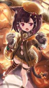 Rating: Safe Score: 26 Tags: animal_ears daidou garter halloween nekomimi tail thighhighs touhoku_kiritan voiceroid User: Mr_GT