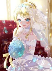 Rating: Safe Score: 14 Tags: ayase_eli dress love_live! user_cjpg7353 wedding_dress User: BattlequeenYume