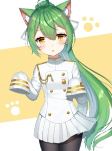 Rating: Safe Score: 29 Tags: akashi_(azur_lane) animal_ears azur_lane cosplay izumo_neru pantyhose takao_(azur_lane) uniform User: Nepcoheart