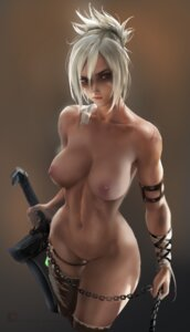 Rating: Explicit Score: 92 Tags: league_of_legends naked nipples pussy riven_(league_of_legends) sakimichan sword thighhighs torn_clothes uncensored User: JCharlieAN