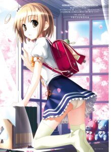 Rating: Safe Score: 35 Tags: ass feet haikuo-soft nekomiya_nono pantsu seifuku tagme thighhighs yotsunoha User: kiyoe