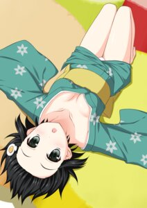 Rating: Questionable Score: 35 Tags: araragi_tsukihi bakemonogatari cleavage minamori_noeru nisemonogatari no_bra pantsu yukata User: nophone