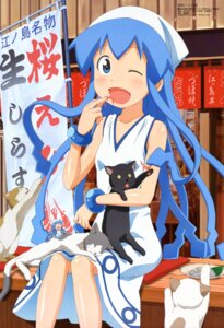 Rating: Safe Score: 30 Tags: chibi honda_yoshino ikamusume neko shinryaku!_ikamusume User: PPV10