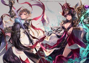 Rating: Safe Score: 50 Tags: armor cleavage dress horns irua roland_(shadowverse) shadowverse shingeki_no_bahamut sword thighhighs User: RyuZU
