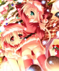 Rating: Questionable Score: 11 Tags: christmas inuneko matatapi pantsu shimapan thighhighs User: petopeto