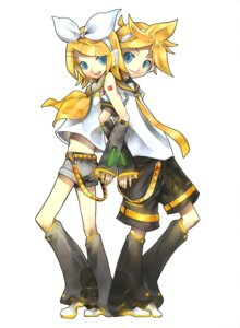 Rating: Safe Score: 16 Tags: kagamine_len kagamine_rin kei vocaloid User: fireattack