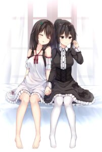 Rating: Safe Score: 52 Tags: dress gothic_lolita lolita_fashion pantyhose tagme yuri User: Ayanoreku