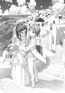 Rating: Safe Score: 15 Tags: cleavage dress hentai_ouji_to_warawanai_neko kantoku landscape monochrome wedding_dress yokodera_youto User: kiyoe