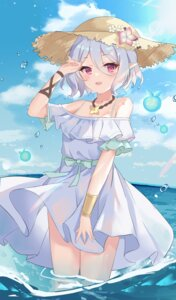 Rating: Questionable Score: 26 Tags: dress kokkoro pointy_ears princess_connect princess_connect!_re:dive see_through serika skirt_lift summer_dress wet User: BattlequeenYume