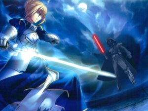 Rating: Safe Score: 15 Tags: crossover darth_vader fate/stay_night photoshop saber star_wars wallpaper User: Shamensyth