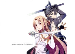 Rating: Safe Score: 23 Tags: adachi_shingo armor asuna_(sword_art_online) kirito sword sword_art_online User: drop