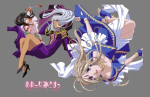 Rating: Safe Score: 7 Tags: ah_my_goddess belldandy skuld transparent_png urd vector_trace User: minakomel