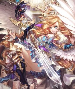 Rating: Safe Score: 35 Tags: armor cleavage dress olivia_(yh) sword wings User: Mr_GT