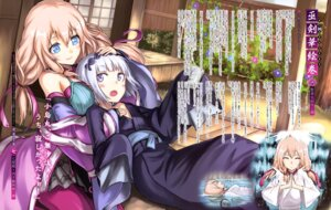 Rating: Safe Score: 41 Tags: juzumaru_tsunetsugu kogarasumaru pantyhose tea tenka_hyakken wet yukata User: drop