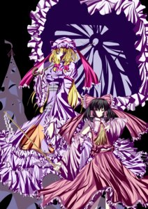 Rating: Safe Score: 4 Tags: dress hakurei_reimu japanese_clothes prism touhou yakumo_yukari User: charunetra