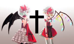 Rating: Safe Score: 9 Tags: flandre_scarlet ica remilia_scarlet touhou User: yumichi-sama