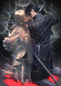 Rating: Safe Score: 2 Tags: blood cleavage dress isekai_meikyuu_no_saishinbu_wo_mezasou sword tagme ukai_saki User: BattlequeenYume