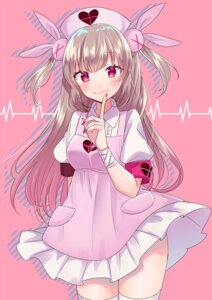 Rating: Safe Score: 20 Tags: bandages haruyuki_14 natori_sana nurse sana_channel skirt_lift thighhighs User: charunetra
