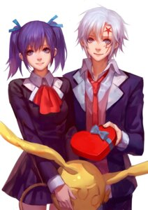 Rating: Questionable Score: 18 Tags: allen_walker asukaziye d.gray-man lenalee_lee seifuku tattoo User: sylver650