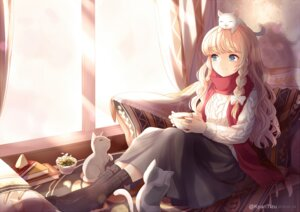 Rating: Safe Score: 44 Tags: kirisame_marisa kyuri_(405966795) neko sweater touhou User: Mr_GT