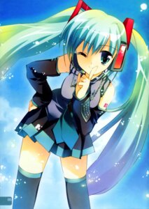 Rating: Safe Score: 32 Tags: hatsune_miku rei rei's_room thighhighs vocaloid User: Feito