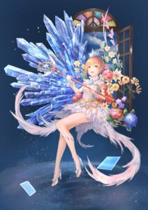Rating: Safe Score: 15 Tags: card_captor_sakura dress heels hua_shi_mang kinomoto_sakura weapon User: Mr_GT