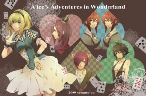 Rating: Safe Score: 7 Tags: alice alice_in_wonderland cheshire_cat queen_of_hearts senano_yuu User: Radioactive