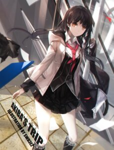 Rating: Safe Score: 83 Tags: akiba's_trip fumizuki_rui seifuku swd3e2 umbrella User: Mr_GT