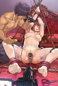 Rating: Explicit Score: 54 Tags: bondage censored feet garter_belt naked nipples pussy pussy_juice stockings thighhighs vibrator yewang19 User: Mr_GT