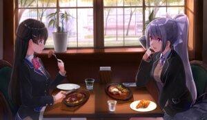 Rating: Safe Score: 32 Tags: akasa_ai higuchi_kaede nijisanji seifuku sweater tsukino_mito User: Mr_GT