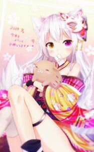 Rating: Safe Score: 34 Tags: animal_ears garter heterochromia japanese_clothes kitsune nya_rl tail thighhighs User: sym455