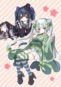 Rating: Safe Score: 23 Tags: emia flower_knight_girl gothic_lolita heels kasuteranosuzu lolita_fashion stockings thighhighs wa_lolita User: kiyoe