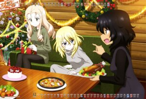 Rating: Safe Score: 15 Tags: andou_(girls_und_panzer) calendar christmas dress girls_und_panzer marie_(girls_und_panzer) oshida_(girls_und_panzer) pantyhose sweater tagme User: drop