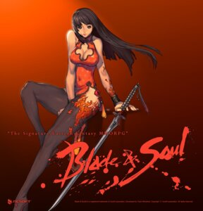 Rating: Safe Score: 50 Tags: blade_&_soul chinadress cleavage kim_hyung-tae nopan sword thighhighs User: Radioactive