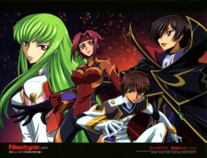 Rating: Safe Score: 19 Tags: bodysuit c.c. code_geass kallen_stadtfeld kururugi_suzaku lelouch_lamperouge nakatani_seiichi uniform User: drop