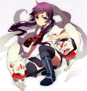 Rating: Safe Score: 41 Tags: ao_no_exorcist kamiki_izumo seifuku shirotaka thighhighs User: Radioactive