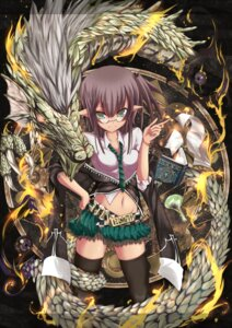 Rating: Safe Score: 33 Tags: elf megane monster pointy_ears shugami thighhighs User: hobbito