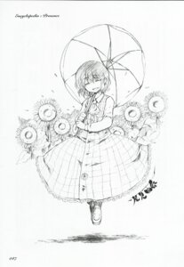 Rating: Safe Score: 3 Tags: akieda kazami_yuuka monochrome touhou User: noirblack