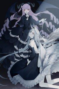 Rating: Questionable Score: 10 Tags: devil dress garter horns kotarou no_bra pointy_ears skirt_lift wings User: whitespace1