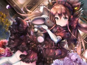 Rating: Questionable Score: 29 Tags: dress gc3 gothic_lolita headphones lolita_fashion thighhighs User: sym455