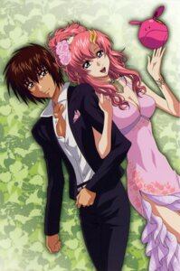 Rating: Safe Score: 29 Tags: cleavage dress gundam gundam_seed gundam_seed_destiny haro hirai_hisashi kira_yamato lacus_clyne User: Aurelia