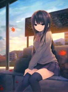 Rating: Safe Score: 164 Tags: coffee-kizoku seifuku shiramine_rika thighhighs User: Twinsenzw