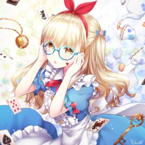 Rating: Safe Score: 16 Tags: alice alice_in_wonderland chiutake_mina dress megane skirt_lift tagme User: Mr_GT