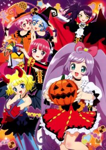 Rating: Questionable Score: 20 Tags: dorothy_west dress halloween hara_shouji horns houjou_sophie leona_west manaka_lala minami_mirei pantyhose pripara toudou_shion weapon witch User: sdkfz142b