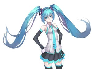 Rating: Safe Score: 12 Tags: hatsune_miku thighhighs vocaloid yucca-612 User: Radioactive